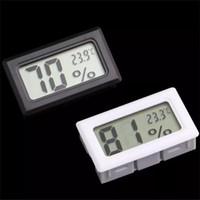 11 metros al por mayor-Mini Digital LCD Interior Conveniente Sensor de temperatura Medidor de humedad Termómetro Higrómetro Medidor FY11 FY-11 CELSIUS / Fahrenheit en caja blanca