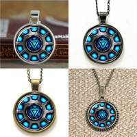 Wholesale arc link - 10pcs Iron Inspired Arc Reactor Pendant Necklace keyring bookmark cufflink earring bracelet