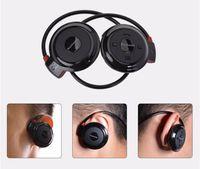 Wholesale Mini Ear Radio - Mini 503 Sports Stereo Wireless Bluetooth Headset TF Card FM Radio Multifunction Bluetooth HIFI Earphone with free shipping