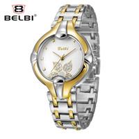 Wholesale Glasses La - Relojes lujo de las mujeres impermeables de la manera del reloj del cuarzo las mujeres de la aleación China Marca BELBI