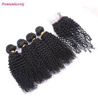 Wholesale Unprocessed Brazilian Hair 5pcs - Prida Star 5Pcs Lot Mongolian Kinky Curly Hair with Closure Unprocessed cheap 4pcs Mongolian Curly Hair Bundle with Lace Closure 4x4