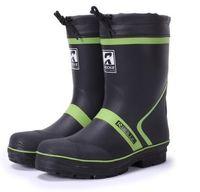 Wholesale Boots Men New - Wholesale-New Arrivals 2016 Men Fashion Rubber Rain Boots Mid-calf Mixed Colors Anti-slip Rainboots Water Shoes Wellies Boots #ZJ125