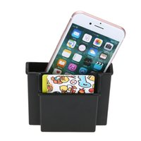 Wholesale Phone Charger Organizer - Wholesale- Universal Strong Car Cell Phone Holder Black Mobile Phone Charger Box Notebook Holder Pocket Organizer Mini Car Bag Storage