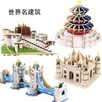 big ben tower achat en gros de-3D Big Ben Tour De Pise Titanic Dôme Modèle Stéréoscopique Puzzle Jouets Pour Enfants Exercice Kid Pratique Capacité 14 7ld G1