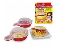 Wholesale Pancake Box - Brand New Easy Eggwich Microwave Egg Cookers Pan Set Of 2 Per Box With Retail Packing