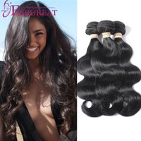 Wholesale Cheap Brazilian Body Wave - 3Bundles Brazilian Body Wave Hair Weave Bundles Unprocessed Brazilian Human Hair Extensions Cheap Brazilian Body Wave Human Hair Weaves
