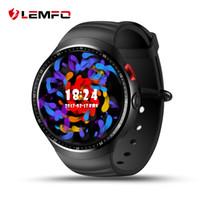 Wholesale Wifi Sim Watch - LEMFO LES1 Bluetooth Android 5.1 Smart Watch 1GB+16GB MTK6580 Quad-core Smartwatch support 3G Nano SIM card GPS Wifi