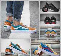Wholesale Golf Cut - 2017 GOLF WANG X OLD SKOOL Pro Old Skool Skateboard Shoes Women Mens Black Casual Canvas Sport Sneakers