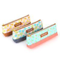 Wholesale Cute Pencil Cases For Girls - Wholesale-Cute and Kawaii School Fabric Pencil Case For Teen Girls and Boys Leather Anime Makeup Pen Pouch Box Bag 2016 Gift Deli3085