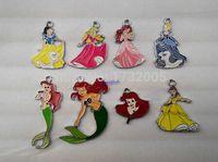 Wholesale Popular Metal Pendant - Wholesale Popular Cartoon Princess DIY Metal pendants Charms Jewelry Making Gifts Y-03