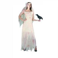 Wholesale Ghost Dresses - HOT!! Halloween costume Corpse bride suit ghost bride cosplay suit role-playing bloody stage of bridal dress