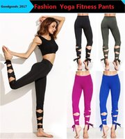 2017 Fashion Woman Yoga Fitness Hose GYM Tanz Ballett Krawatte Wickel Bandage ActiveTight Wicklung Leggings Hose 4colors M0825