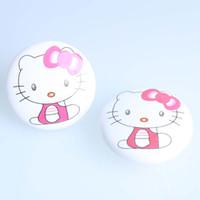ingrosso rosa pomoli per mobili-50mm bianco rosa gatto ceramica manopole kitty porcellana cassetto scarpiera manopole del fumetto mobili per bambini in camera per bambini manopole