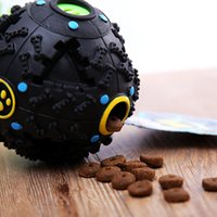 Wholesale Foods Contain - Free shipping Hot sellers pet rubber sound toys dog treat contains food storage foog leakage ball puppy's best company at home