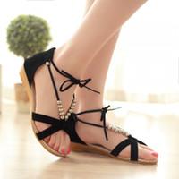 Wholesale Sandal Heels 3cm - 2017 Promotion Sale 0-3cm Ladies Shoes Plus Size Shoes Women Sandals Sapato Feminino Summer Style Chaussure Femme