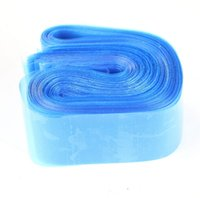 Wholesale Disposable Sleeves - 100pcs Disposable Hygiene Tattoo Clip Cord Bag Plastic Blue Tattoo Machine Clip Cord Sleeve Cover Bag No Box Packaging