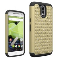 Wholesale Droid Pc - Starry Defender 2 in 1 Diamond Brilliant Bling TPU PC Shockproof Customized Case Cover For Motorola Moto Z Droid G4 Play G4 G4 Plus Moto G2