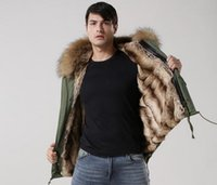 Wholesale Ykk Zipper Black - Khaki fur Mr Mrs itlay 100% rabbit fur green parka with YKK ZIPPER Mr Mrs furs mini jackets GOOD quality