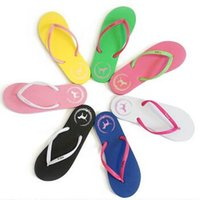 7 Couleurs Girls Vs Pink Flip Flops Love Pink Sandals Pink Letter Chaussures de plage Chaussures Summer Soft Sandalias Chaussons de plage CCA6078 100pair