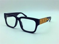 Wholesale Eyeglasses Frame Men Brand - new medusa glasses prescription eyewear frame vintage frame men brand designer eyeglasses with original case square frame face logo