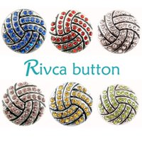 Wholesale Crystal Beads Bracelet Design - Rivca Hot Wholesale Newest Design Ginger Snap Button Bracelet NOOSA Chunks Leather Bracelets For Women Fit 18mm Rivca Snap Jewelry D01666