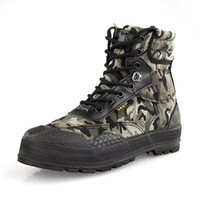 Wholesale Wholesale Men Boots - Wholesale- 2015 New Winter Men Fashion Shoes Round Toe Army Boots Lace Up Canvas Camouflage Men Outdoor Boots 62