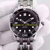 смотреть мужчин оптовых-Роскошные Часы Высокого Качества Профессиональные 300 м Джеймс Бонд 007 Синий Циферблат Автоматические Механические Наручные Часы Из Нержавеющей Стали мужские Часы