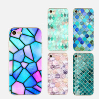 Wholesale Mobile Cover Back Paintings - Luxury marble TPU painting mobile phone cases For Apple iphone 6S 7 plus 5S case ultra thin soft silicone back protective cover shell 2017