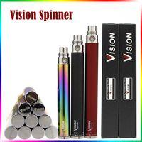 ego-c achat en gros de-Vision Spinner Batterie 3.3V - 4.8V Tension Variable V1 Batterie 510 Fil 650mAh 900mAh 1100mAh 1300mAh eGo C Twist E Cigarette