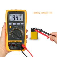 Wholesale multimeter ac voltage - Digital Multimeter DC AC Voltage Current Meter Resistance Diode Temperature Tester Transistor hFE Measurement NCV Detector