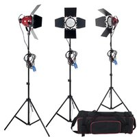 Dimmer Switch di alta qualità 3pcs 800W Studio Video Kit illuminazione testa rossa + Bulb + Carry bag Attrezzatura fotografica Spedizione gratuita
