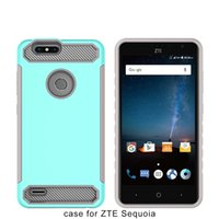 Wholesale Wholesale Champagne Cases - Carbon Fiber Design Rugged Hard Armor Phone Case For ZTE Blade Z Max Z982 Metropcs For ZTE Tempo X N9137 Boost A