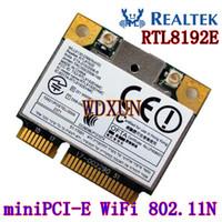 wifi pci e toptan satış-Realtek Rtl8192e 802.11b / g / n 150 milyon Laptop için Dahili Toptan-Kablosuz LAN Mini PCI-E Yarı yükseklikte Kart Wifi Catd Kablosuz Modülü