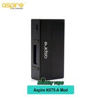 Wholesale Electronic Cigarette Evo - Original Aspire NX75-A Vape Mod 75W NX75 Box MOD for Atlantis EVO Tank electronic cigarette battery mods