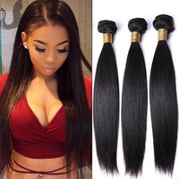HOT BEAUTY HAIR Natural Color Péruviano Brazilian Brazilian Straight Virgin Hair Bundles 3 PCS / Lot Extensões de cabelo humano Retail Retail