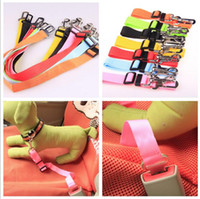 Wholesale dog vehicle - Dog Belts Cat Car Safety Seat Belt Harness Adjustable Pet Puppy Pup Hound Vehicle Seatbelt Lead Leash for Dogs Supplies
