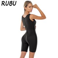 Wholesale Wholesale Spandex Bodysuits - Wholesale- Hot Shapers Women neoprene body sculpting clothing waist machine weight loss piece pant speed perspiration Conjoined 8AD-QR513