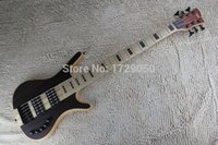 Wholesale China Custom Bass - Wholesale-China guitar factory custom W New Arrival 2015 6 Strings Bass Thru neck Brown natural Electric Bass Active Pickups 1221