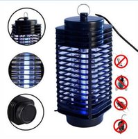Electronic Mosquito Killer Inseto Eletrônico Assassino Bug Zapper Trap Photocatalyst Fly Zapper UV Night Light Trap Lamp CCA6559 10pcs