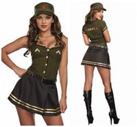 Wholesale Sexy Police Girl Uniform - New Sexy Women Navy Costume Girls Sailor Uniforms Halloween Carnival Fantasias Masquerade Cosplay Party Dress