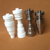 керамический гвоздь для мужчин 18.8mm оптовых-Универсальный Domeless Титана ногти керамические ногтей 10 мм 14 мм 18.8 мм мужской Femal GR2 регулируемый для стекла бонги трубы Dab буровых установок