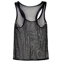 Wholesale Camisole Men - Wholesale- Men's Vest Large mesh breathable sexy camisole tank top undershirt clothes men tank top sleeveless shirts singlet fitness