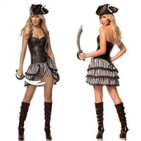 2017 Sexy Frauen weibliche Pirate Kostüm Halloween Phantasie Party Kleid Karneval Leistung Erwachsene Piraten Cosplay Kostüm