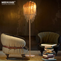 Wholesale Vintage Reading Light - Hot Sale Aluminum Chain Floor Light Fixture Gold Color Vintage Style Standing Lamp Lustre for Reading Room Bedroom Hotel Cafe