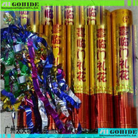 Wholesale Confetti Fireworks - Wholesale- Super Quality Safety Delivery Wedding Fireworks Wedding Confetti Tube Salyut Fireworks Tube Confetti Size in Optional 20cm