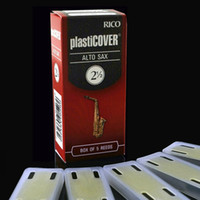 Wholesale Saxophone Free Shipping - Wholesale- Free Shipping RICO Plasticover Alto Eb Vinyl waterproof Sachs reed 2#,2.5#, 3.0#,3.5# Box of 5
