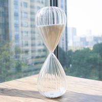 Wholesale Christmas Countdown - 60 Minute sand Hourglass Countdown Timing 10*10*28cm Modern glass Sandglass Sand Clock Timer Home Decoration christmas gift