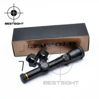 Wholesale Leupold Mil Dot Rifle Scopes - New LEUPOLD 1.5-5X20 Optics Riflescope Hunting Scope Mil-dot Illuminated Tactical Scope Riflescopes For Airsoft Air Rifles