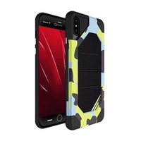 Wholesale Military Camo Case - For Iphone X Camouflage Case 2in1 Military Camo Hard Shockproof Back Cover for iphone x 8 8plus