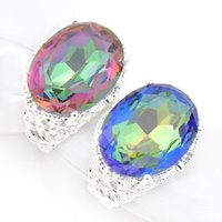 Wholesale Cluster Solitaire Rings - 2017 Special Offer Real Cluster Rings Bohemian Women's Party Wedding Rings Wholesale Mix Colors 4pcs lot Silver Rings